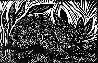 Cottontail Block Print Art Print