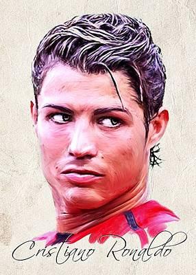 Painting - Cristiano Ronaldo by Wu Wei