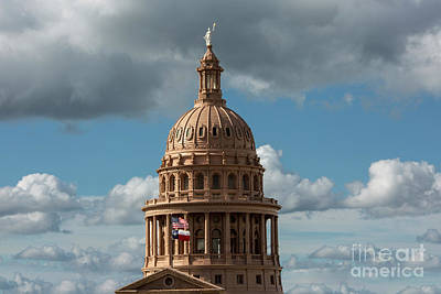 Crowning The Dome Of The Texas State Capitol Stands The Goddess  Art Print
