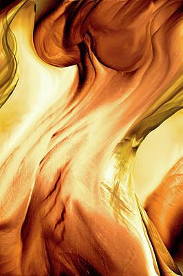 Sensual Digital Art - Curves by Linda Sannuti