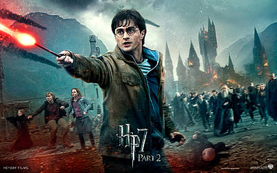 Deathly Hallows Digital Art - Daniel Radcliffe In Deathly Hallows Part 2 by Emma Brown