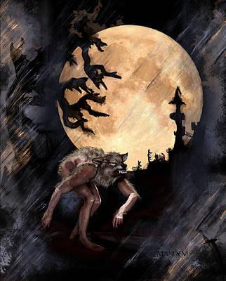 Halloween Digital Art - Darkenwarg by Mandem