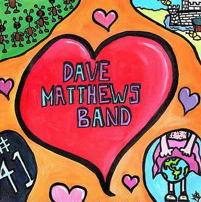 Tribute Drawing - Dave Matthews Band Tribute by Jera Sky