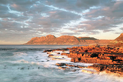 Dawn Over Simons Town South Africa Art Print by Neil Overy