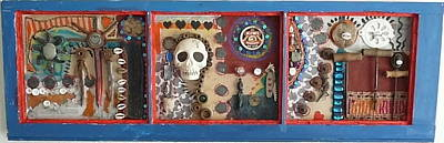 Junk Mixed Media - Day Of The Dead by Jane Clatworthy