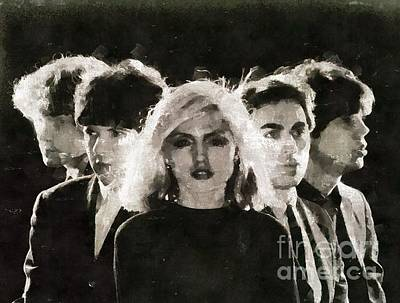 Elvis Presley Painting - Debbie Harry And Blondie by Mary Bassett