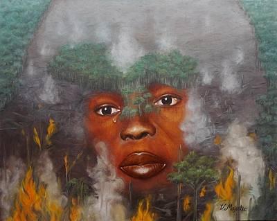 Woman Painting - Deforestation by Viktoria K Majestic