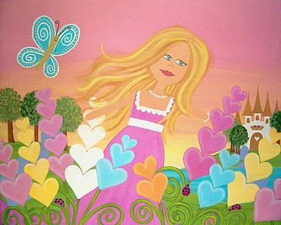 Delphinium Garden Art Print by Samantha Shirley