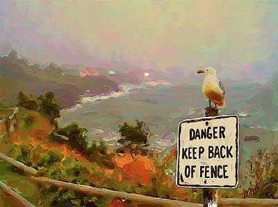 Depoe Bay Security Guard Art Print by Methune Hively