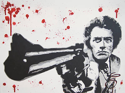 Dirty Harry Painting - Dirty Harry by Erik Pinto