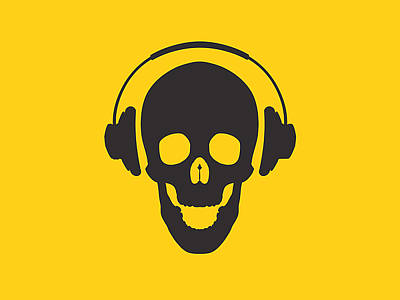 Banksy Digital Art - Dj Skeleton by Pixel Chimp