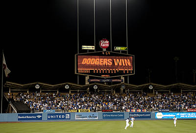 Dodgers Win Print by Malania Hammer