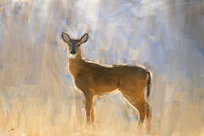 Ron Jones Digital Art - Doe Portrait by Ron Jones