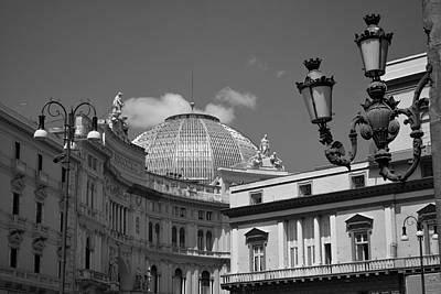 Dome Of Galleria Umberto 1 Print by Terence Davis