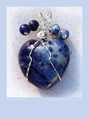 Sterling Silver Mixed Media - Don't Be Blue by Rhonda Chase