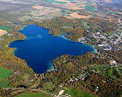 Photograph - E-006 Elkhart Lake Wisconsin Fall Lake by Bill Lang
