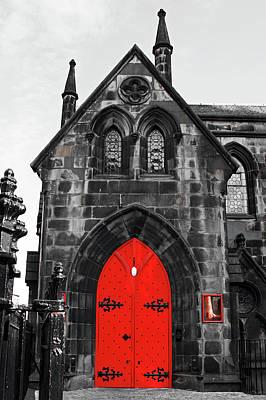 Edinburgh Door Art Print by Martina Fagan