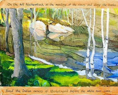 Concord Massachusetts Painting - Egg Rock by Michael Cunliffe Thompson