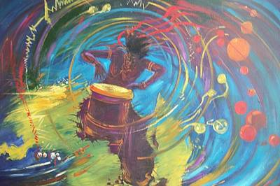 Liberation Painting - Emancipate Africa by Leon Salako