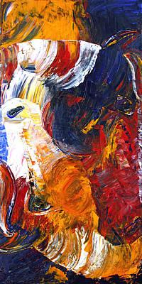 Art Print featuring the painting Embraced by Jennifer Godshalk