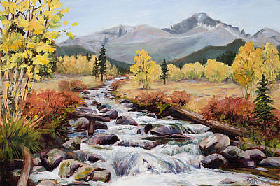 Rocky Mountain National Park Painting - Endurance by Mary Giacomini