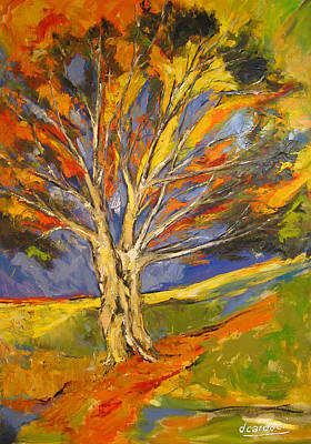 Painting - Expressionist Tree by Debora Cardaci