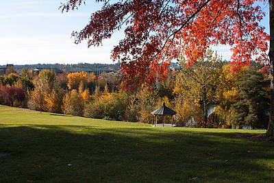 Photograph - Fall Landscape At Gonzaga by Carol Groenen