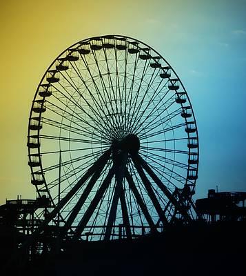 Pier Digital Art - Ferris Wheel - Wildwood New Jersey by Bill Cannon