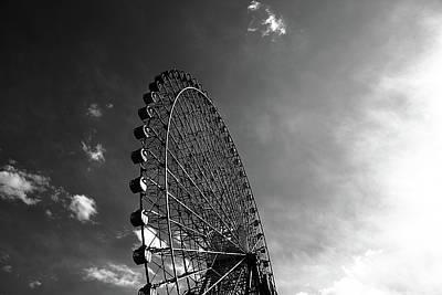 Ferris Wheel Against Sky Art Print