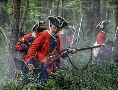 Seven Years War Digital Art - Fight In The Forest Bushy Run 1763 by Randy Steele