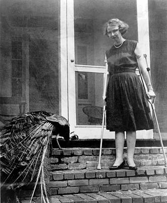 Crutch Photograph - Flannery Oconnor 1925-1964, American by Everett