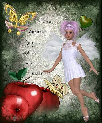 Flavors Of Your Green Heart Art Print by Morning Dew