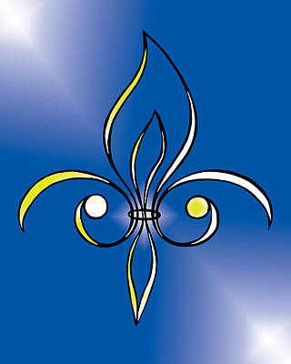 Digital Art - Fleur De Lis In Gold by Alycia Christine