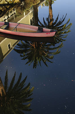 Floating On Palms Art Print by Kevin Bergen