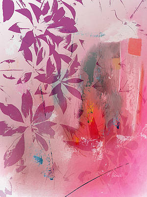 Botanicals Mixed Media - Floral Illusion by Ruth Palmer
