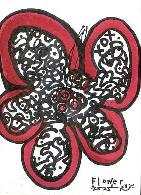 Folk Art Mixed Media - Flower 1 by Robert Wolverton Jr