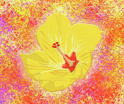 Flower In Bloom Art Print by Melissa Stinson-Borg