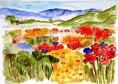 Flowery Meadow Art Print