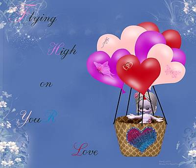 Flying High On Your Love Art Print by Morning Dew