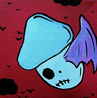 Abomination Mixed Media - Flying Zombie Mushroom by Jera Sky