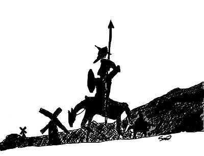 Don Quixote Digital Art - Follow Your Dreams by Yiries Saad