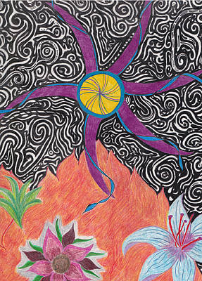 Pinwheels Drawing - From The Ashes by Laurie Gibson