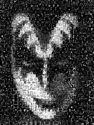 Gene Simmons Kiss Mosaic Art Print