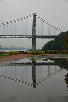 Print featuring the photograph George Washington Bridge by Steven Richman