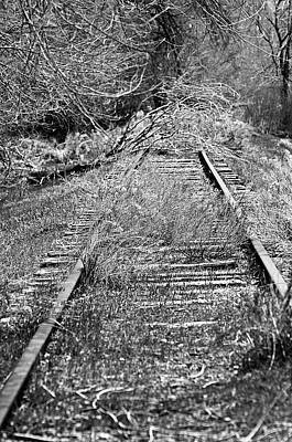 Art Print featuring the photograph Ghost Rail by Juls Adams