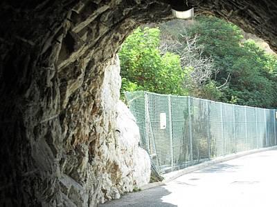 Photograph - Gibraltar Hillside Tunnel Uk by John Shiron