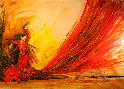 Impressionist Mixed Media - Gift Of Fire by Debora Cardaci