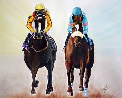 Race Horse Painting - Girl Power by Jennifer Godshalk