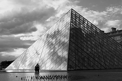 Glass Pyramid. Louvre. Paris.  Art Print by Bernard Jaubert
