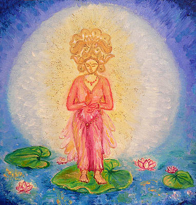 Painting - Goddess Ganga by Alexandra Florschutz